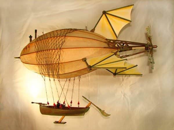 Steampunk Airship Anastasia Recycled Art Recycling Paper & Books