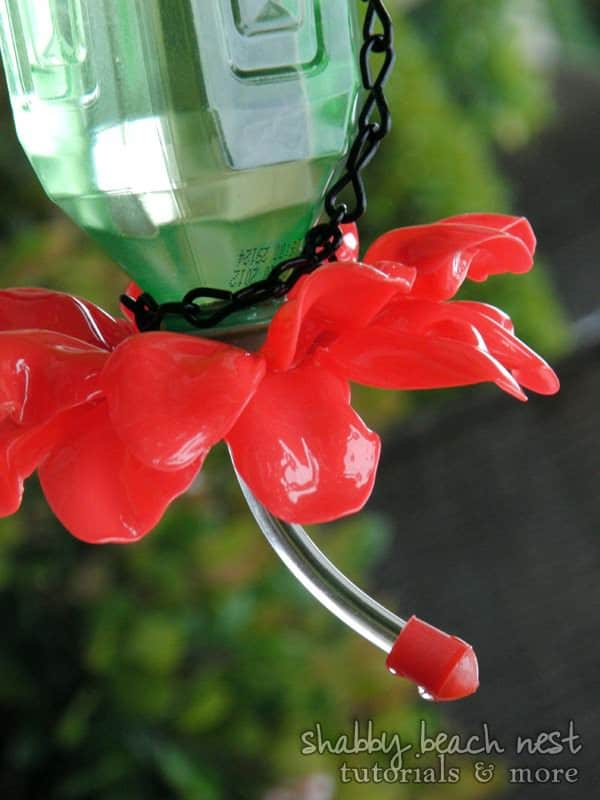 Earth Day Plastic Bottle Plastic Spoons Hummingbird Feeder Upcycle Pic 15 Plastic Spoon & Bottle Hummingbird Feeder in plastics diy  with Upcycled tutorial Spoon Repurposed Recycled Flower feeder DIY