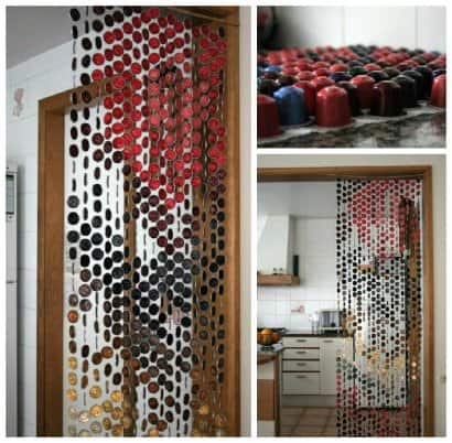 Curtain Made of Recycled Nespresso Coffee Capsules