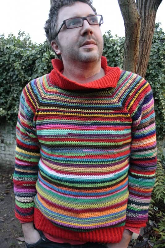 Sweater Made with Leftover Yarn Clothing
