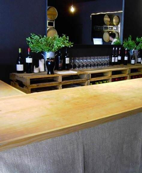 Obalisi tasting room 11 Pallet shelving in social pallets 2 diy architecture  with Pallets Decoration