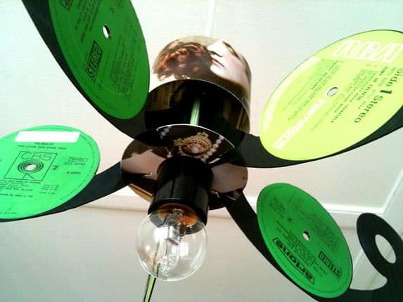 Vinyl Record LP Chandelier in vinyl records lights  with Vinyl Records Upcycled Reused Recycled Record Music Dutch Chandelier