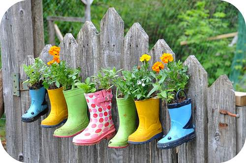 boots garden Garden boots in diy  with planter Garden Boots