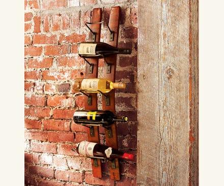 Reclaimed Oak Staves Into Wine Rack