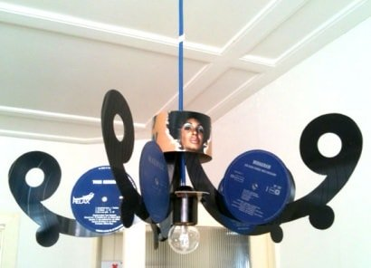 Vinyl Record LP Chandelier