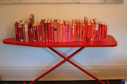 Ironing Board Upcycled As A Bookshelf