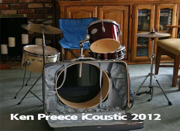 Suitcase Drumset  in diy  with suitcase Music