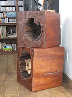 Hollow trunk as a coffe table