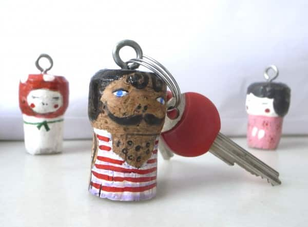 Key Ring Accessories Do-It-Yourself Ideas Recycled Cork