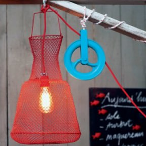Fisherman basket lamp