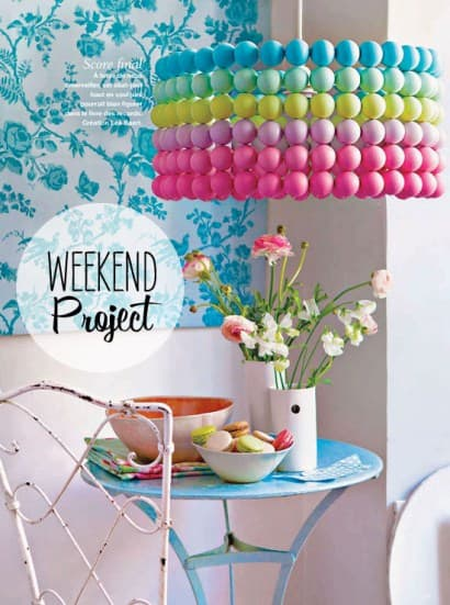 DIY: Ping Pong Ball Lampshade
