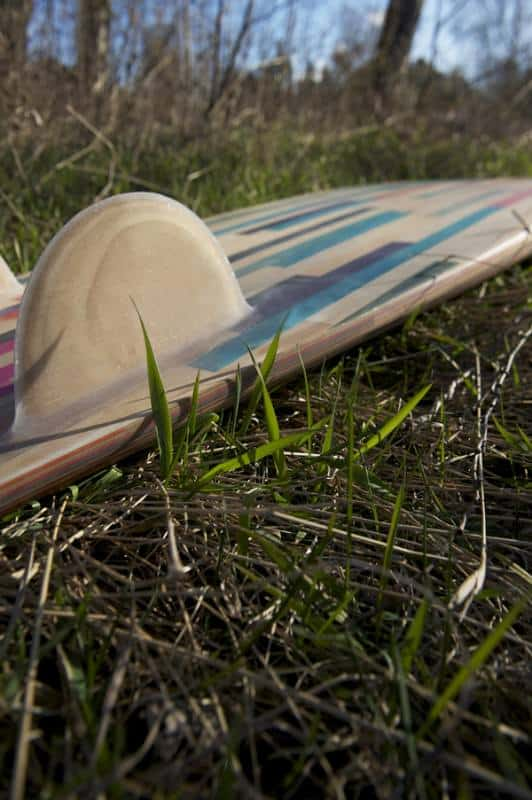 Surfboard Made from Recycled Skateboards Accessories Recycled Sports Equipment Wood & Organic