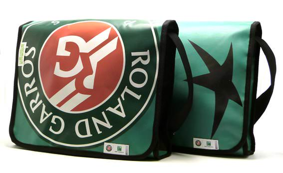 Bags from Rolland Garros tarps Accessories Recycled Packaging