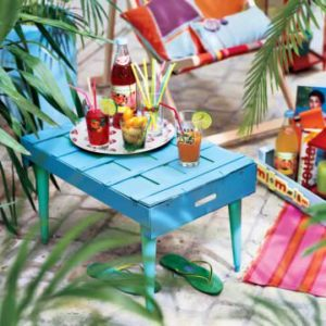 DIY : crate –> outdoor coffe table
