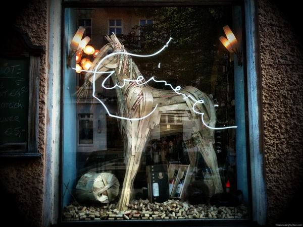 Wooden horse Recycled Art Wood & Organic