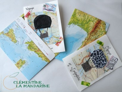 Postcards made with scrap