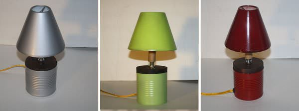 AD LAMPES 3 Recycle lamp   Penser Vert in lights  with Upcycled Lamp Ecodesign