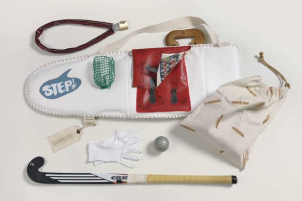 Its My Bag! in fabric art accessories  with Vintage Upcycled sport retro hockey Bags Art
