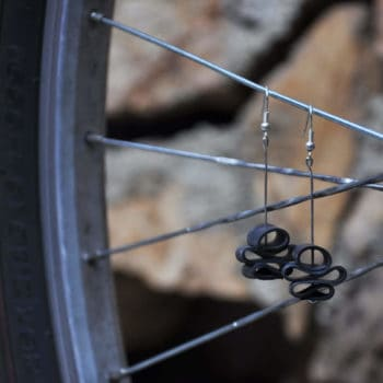 Bike innertube earrings - bas redesign