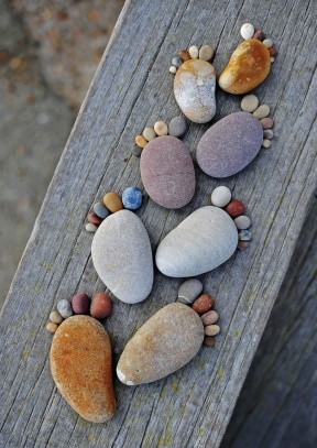 Stone footprints