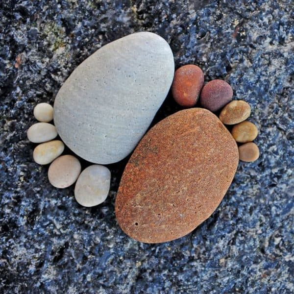 Stone Footprints Do-It-Yourself Ideas Recycled Art Wood & Organic