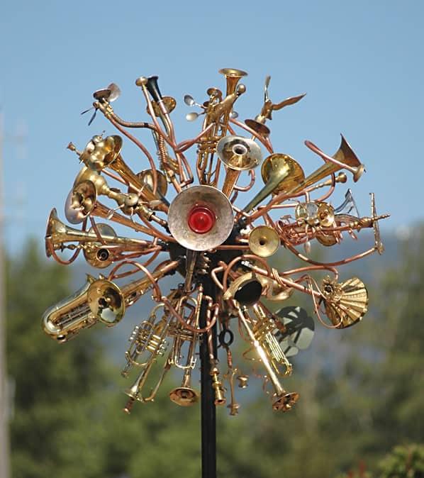 Kinetic Weather Disturbance Ensemble Recycled Art