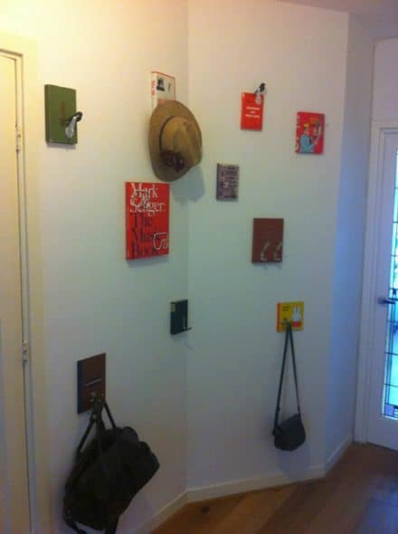 Hang your coat on a book