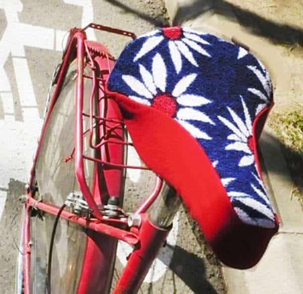Upcycled Bicycle Saddle in bike friends  with Upcycled Towels Saddle Bike