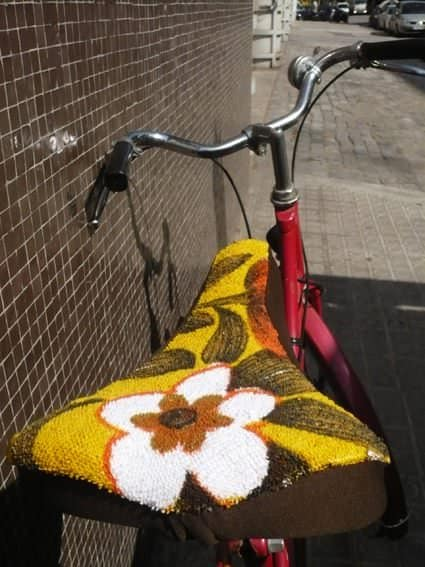 Upcycled Bicycle Saddle in bike friends  with Bike