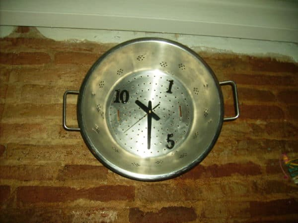 Kitchen Strainer Clock in accessories  with Upcycled strainer kitchen Clock