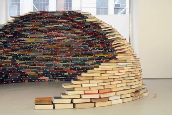 book igloo 600x400 Book igloo in paper art architecture  with igloo Book