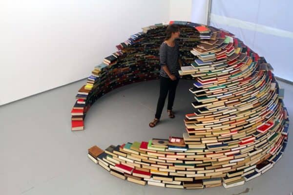 book igloo2 600x399 Book igloo in paper art architecture  with igloo Book