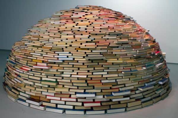 Book igloo in paper art architecture  with igloo Book