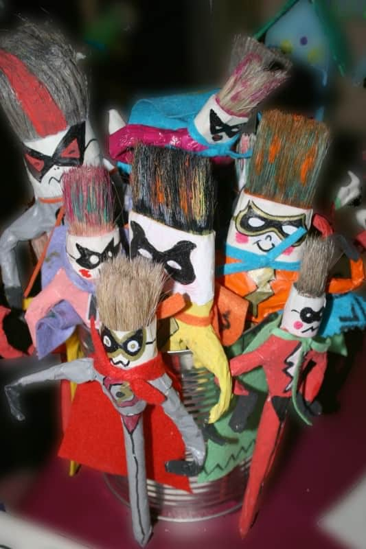 mini 533x800 Superheroes in diy art  with Wool DIY Craft 