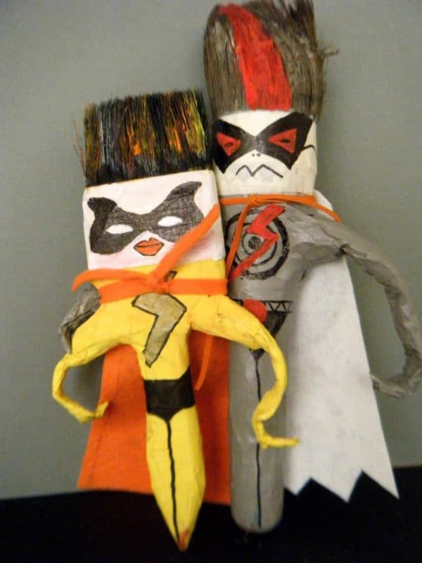 Superheroes in diy art  with Wool DIY Craft