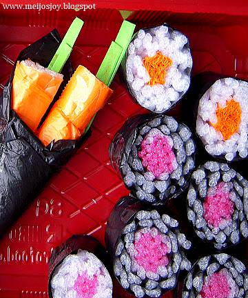 DIY Gourmet Play - Sushi from Groceries Packaging Do-It-Yourself Ideas Recycled Packaging