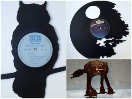 Handmade Recycled Vinyl Art