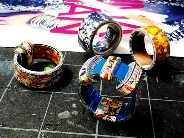 IMG 20120622 191011 600x450 Paper Rings in paper jewelry accessories  with Ring Paper & Books Jewelry