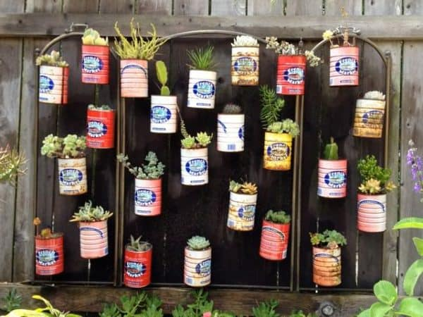Cans Garden in metals diy  with urban gardening Garden DIY Container