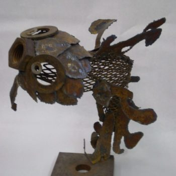 Fish Sculpture Made From Scrap Metal