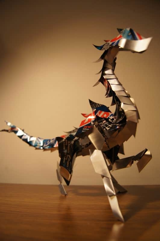Can Sculptures by Cody Avery Recycled Art Recycling Metal