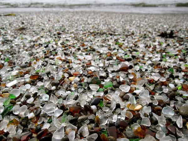 beach 1 Glass beach   California in wood social glass  with landscape Land Art Glass Beach