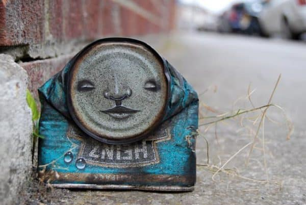 can man1 600x402 My Dog Sighs : Can men in social packagings metals art  with Street Art face Can 
