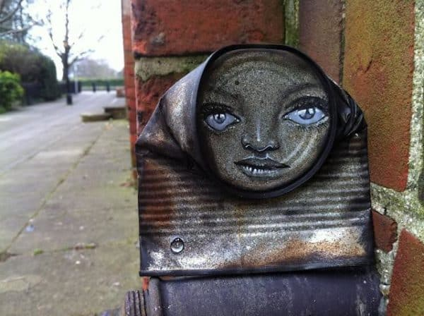 My Dog Sighs : Can men in social art packagings metals  with Street Art face Cans