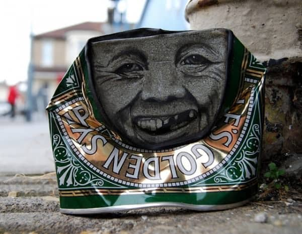 can man4 600x466 My Dog Sighs : Can men in social packagings metals art  with Street Art face Can 