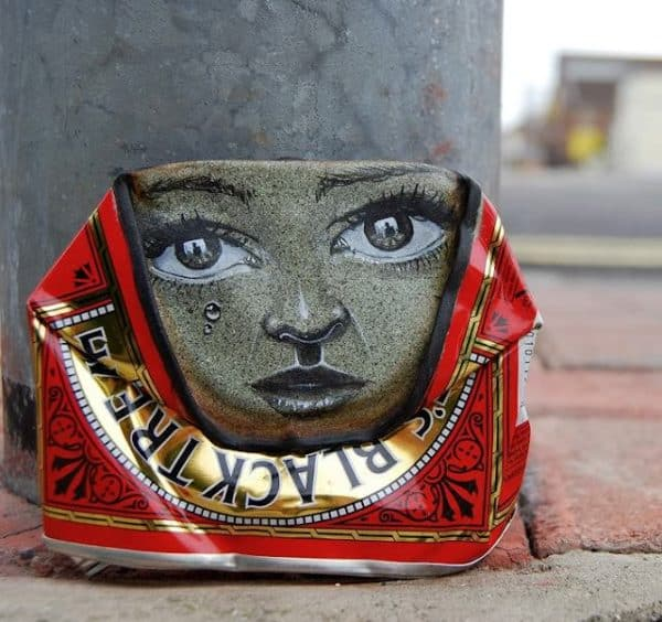 My Dog Sighs : Can men in social packagings metals art  with Street Art face Cans