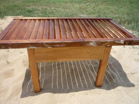Shutter Coffee Table in wood furniture  with Upcycled Table DIY Coffee Table