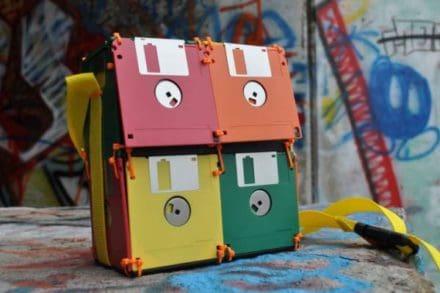 Geeky Floppy Disk Bags