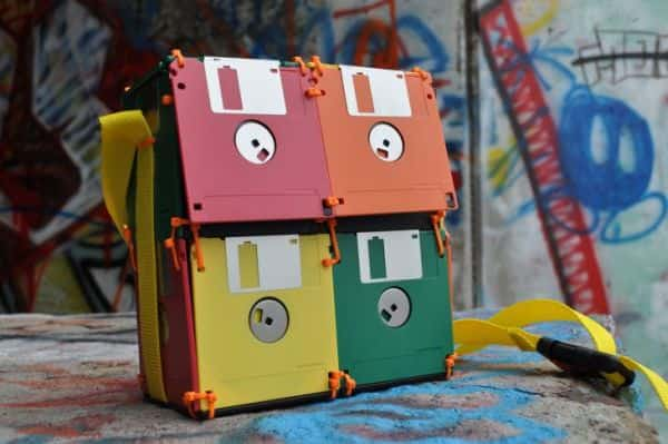 recyled Floppy Disk Bags by Roxanne Gibson Geeky Floppy Disk Bags in electronics diy accessories  with Floppy Disk Bags Accessories