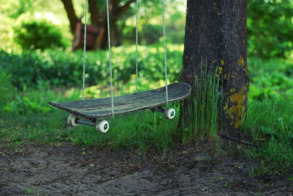 Skateboard swing in diy  with swing sport Skateboard Garden